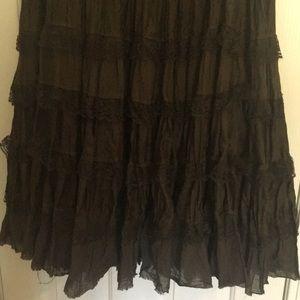 xi Skirts - Olive full skirt
